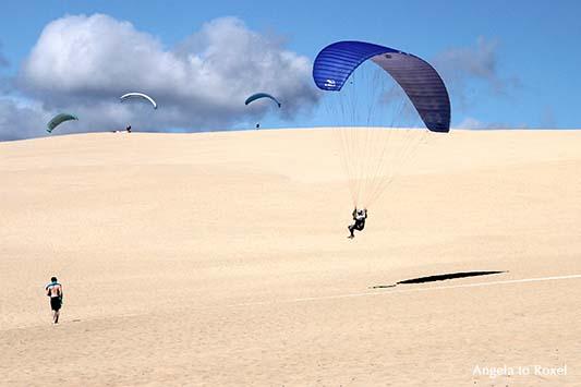 Paraglider über der Dune du Pilat, Arcachon