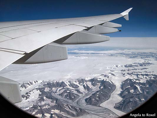 Fotografien kaufen: Nordamerika, Fensterblick aus dem Airbus A380 auf das schneebedeckte Nordamerika, Flug Frankfurt - San Francisco | Angela to Roxel
