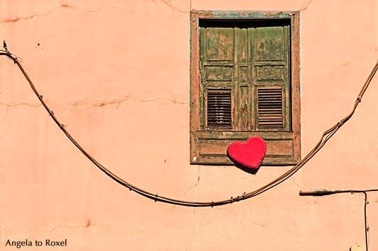 Marode Fassade mit Herz, Santa Cruz de Tenerife, Teneriffa, Spanien