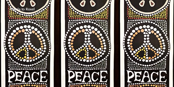 Hashtag peace, Symbol, Wandbehang - San Francisco 2011