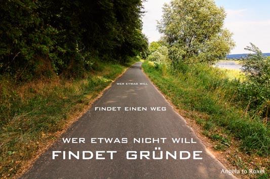 Kunstfotografie kaufen: Wer etwas will, findet einen Weg. Wer etwas nicht will, findet Gründe - Weg an der Weser | Ihr Kontakt: Angela to Roxel