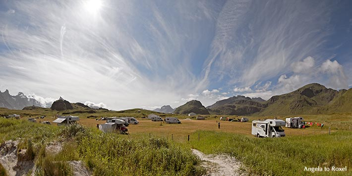 Selfjorden, Nähe Fredvang, Insel Moskenesøya, Flakstad,  Lofoten, Nordland, Norwegen