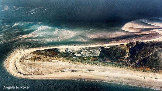 Luftbild der Hörnum-Odde (Söl'ring Hörnem-Or), Dünen- und Heidelandschaft an der Südspitze der nordfriesischen Insel Sylt, Schleswig-Holstein 2016