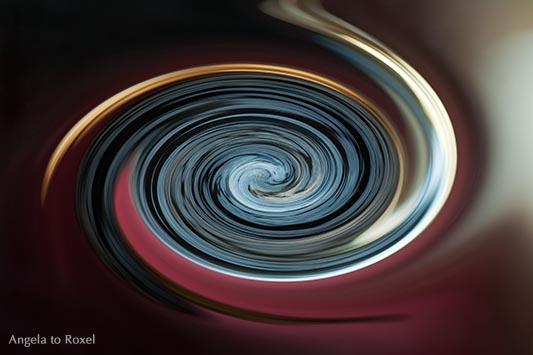 Tao, Spirale, Symbol für den Weg, Verfremdung eines Obsidians, die an das Yin-Yang-Symbol erinnert, abstrakt, Kunstfotografie kaufen | Angela to Roxel