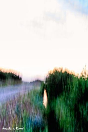 Landschaftsbilder kaufen: Sonnenaufgang im Teufelsmoor, Lichtstimmung am frühen Morgen, Langzeitbelichtung, Wischtechnik, Worpswede | Angela to Roxel