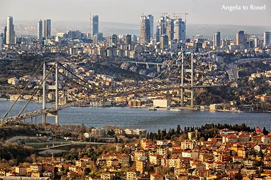 Architektur Bilder: Istanbul, Blick auf die Bosporusbrücke und die Stadt vom Büyük Çamlıca, Üsküdar, İstanbul | Ihr Kontakt: Angela to Roxel