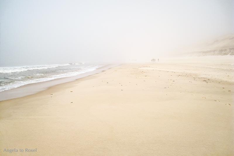 Spaziergänger im Nebel am Strand | Landschaftsbilder kaufen