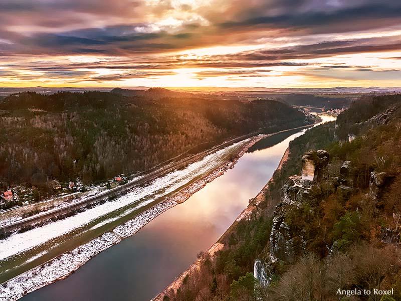 Blick von der Bastei auf die Elbe | Landschaftsbilder kaufen