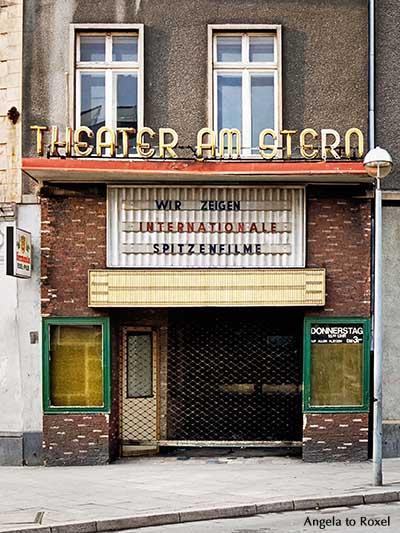 Geschlossenes Kino in Gelsenkirchen-Horst, Kinoschließung während der Rezession im Ruhrgebiet, analog 1981 | Architektur Bilder kaufen - Angela to Roxel