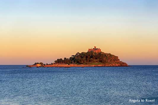 Die Gezeiteninsel St. Michael's Mount in Cornwall, Sonnenuntergang an der Südwestspitze Englands, Marazion | Landschaftsbilder kaufen - A. to Roxel